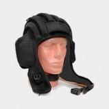 Black tank helmet