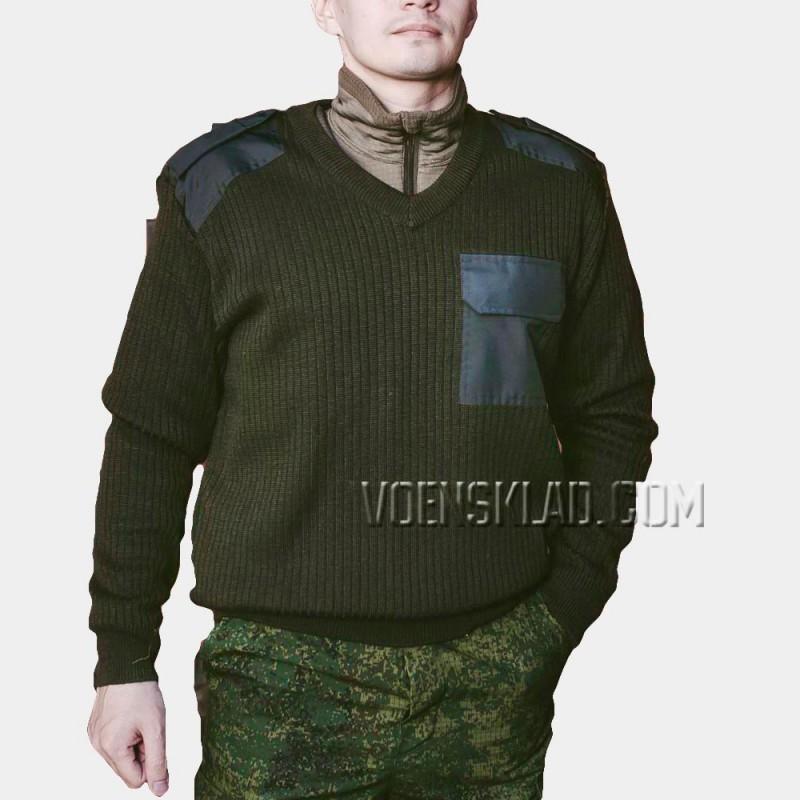 Military khaki sweater